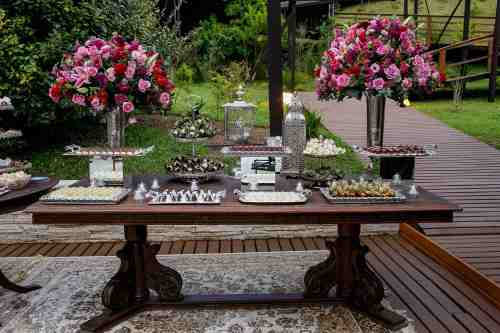 Decor e mesa de doces do Wedding Experience Montanha